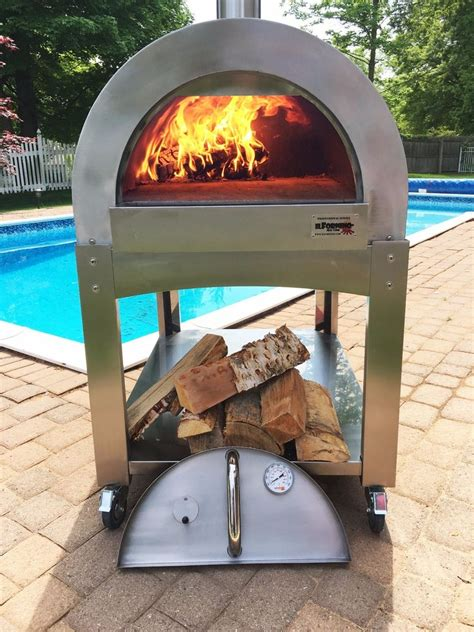 Backyard Wood Fired Pizza Oven Commercial Stainless Steel Wood Fire Pizza Oven Pita