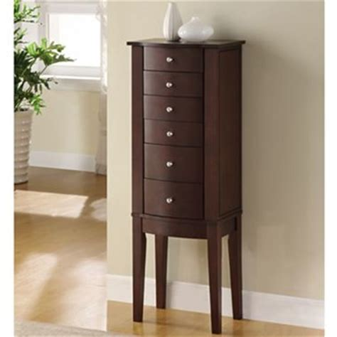 jewelry armoire at jcpenney merlot finish jewelry armoire jcpenney for the home