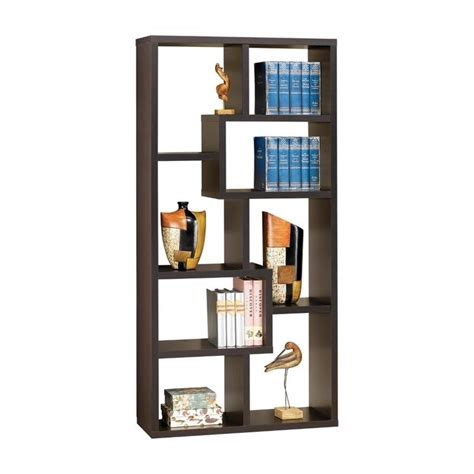 asymmetrical cube bookcase with shelves coaster contemporary asymmetrical cube bookcase in