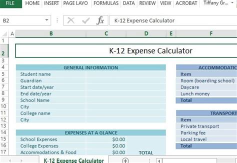 cfp calculation workbook 400 calculations to prepare for the cfp 2017 edition books k 12 school expense calculator for excel