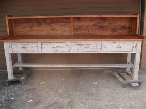 reclaimed wood potting bench hand made potting table from reclaimed wood custom made