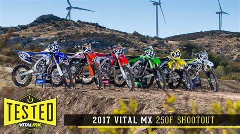 motocross 250f shootout 2017 vital mx 250 shootout motocross feature stories