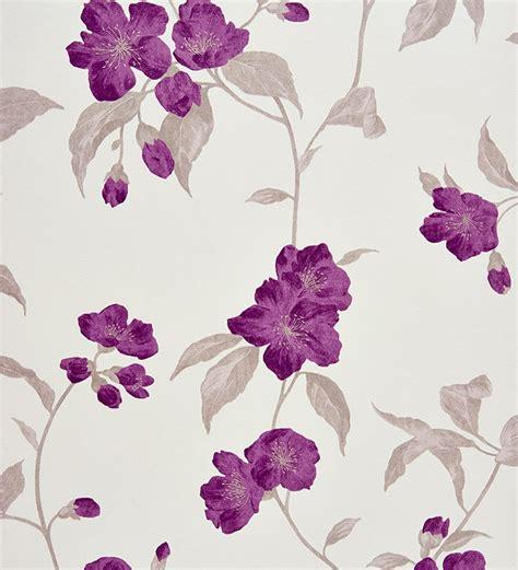 papel pintado flores japonesas estilo oriental