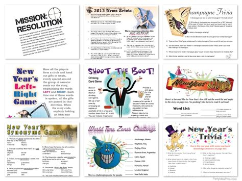 new year activities on printable new years new year s