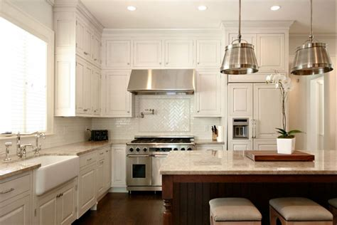 kitchen with backsplash pictures timeless herringbone pattern in home d 233 cor