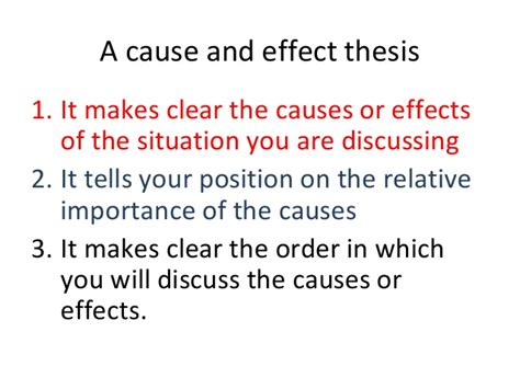 Cause And Effect Essay Conclusion by Cause And Effect Essays 1