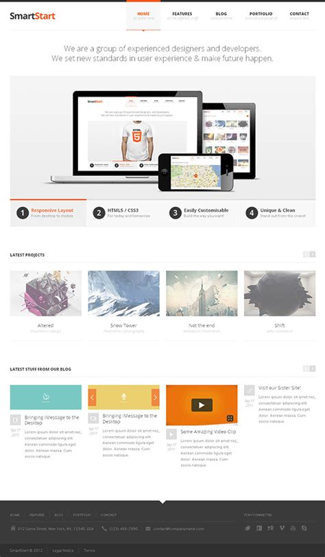 responsive layout html5 download fresh 20 website templates for new designers
