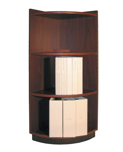 Wood Corner Bookcase Wide Brown Wood Corner Bookcase Decofurnish