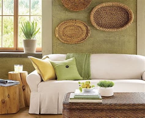 Eco Home Decor | decorating home with ethnic wicket dishes and bowls