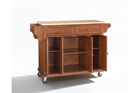 wood kitchen island cart natural wood top kitchen cart island in classic cherry