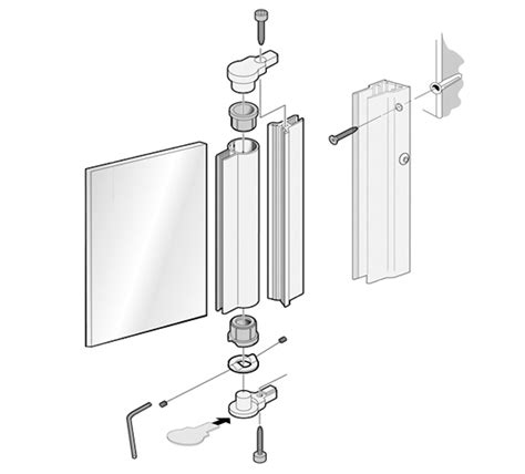 Aqua Glass Shower Door Parts Aqua Shower Door Hinge For 6mm Glass The Wholesale Glass Company