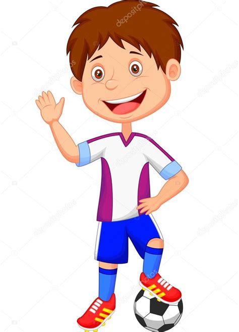 film cartoon football futbol oynayan 231 izgi film 231 ocuk stok vekt 246 r 35060927