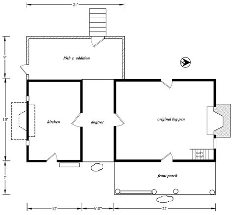 house measurements floor plan of a house with measurements