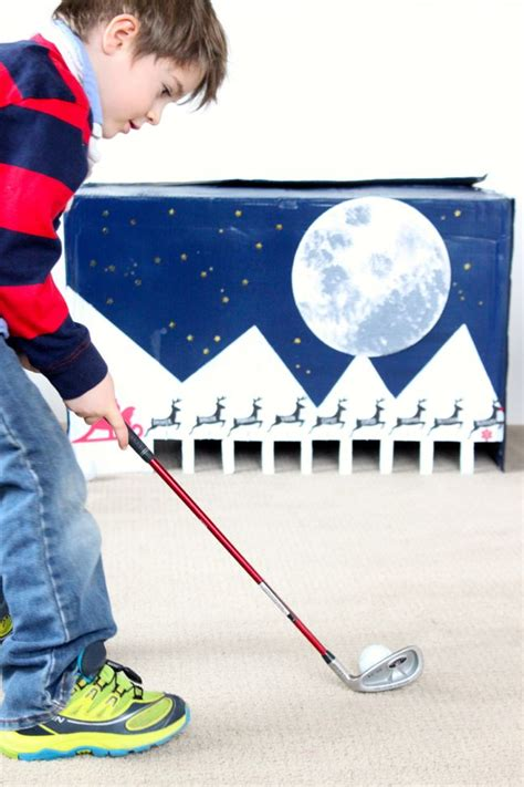 diy indoor games diy cardboard box entertainment for kids indoor golf