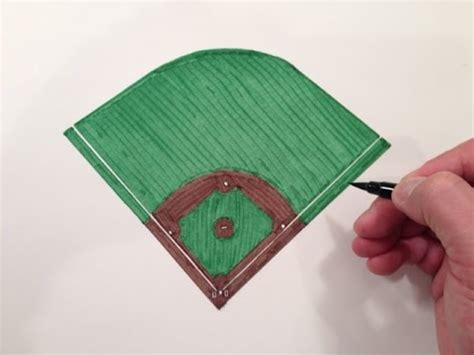 How To Make A Stadium Out Of Paper - how to draw a baseball field