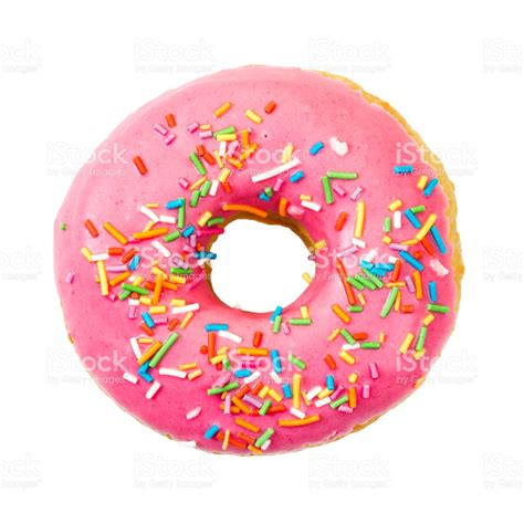 Donut Top donut with colorful sprinkles top view stock photo more pictures of baked istock