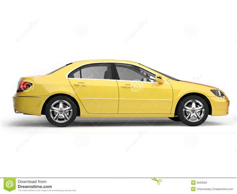 cartoon sports car side yellow sport car side view stock illustration