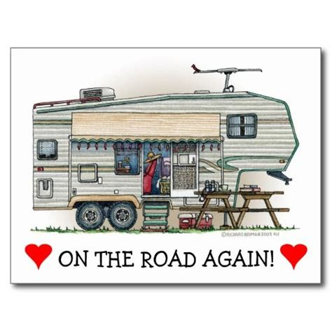 Painting 5th Wheel Trailer by Rv Vintage Fifth Wheel Cer Travel Trailer Postcard