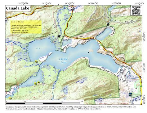 canada lake maps canada lake andy arthur org