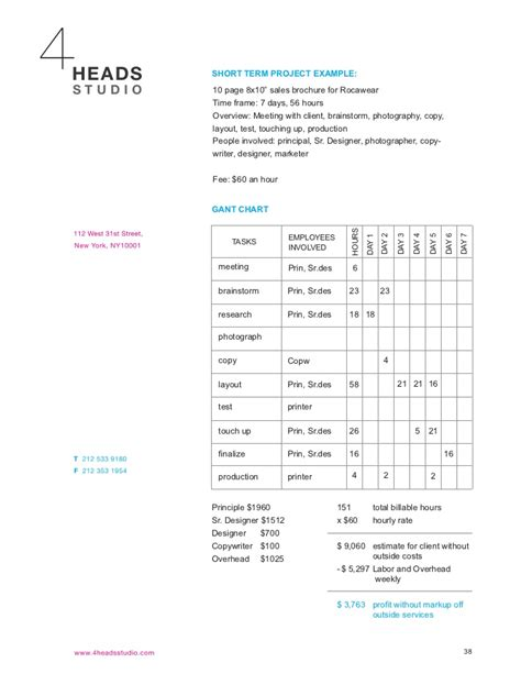 studio business plan template 4 heads studio business plan