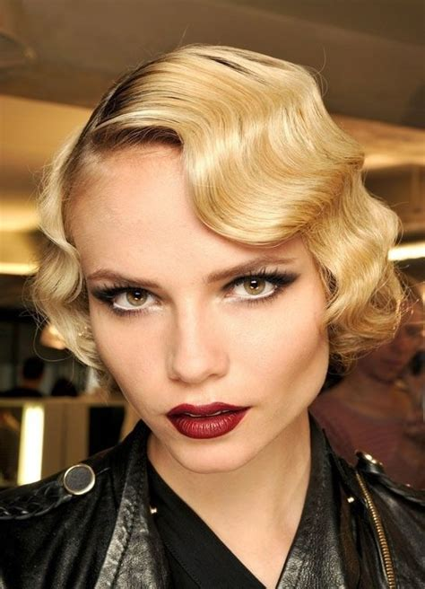 vintage finger wave hairstyles old hollywood hairstyle for short hair hair pinterest