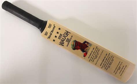 Handmade Cricket Bats Australia - steve waugh mini cricket bat test highlights australian