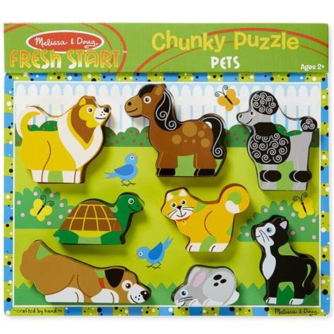 Chunky Puzzle Animal C 8 pc doug pets chunky puzzle from who what why