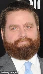 hangover actor with beard hangover star zach galifianakis sports a handlebar