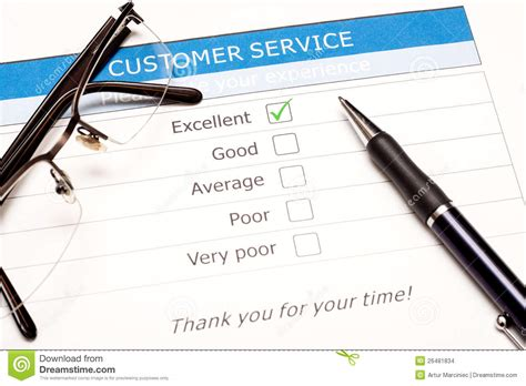 Online Customer Survey - online customer service satisfaction survey stock images image 26481834