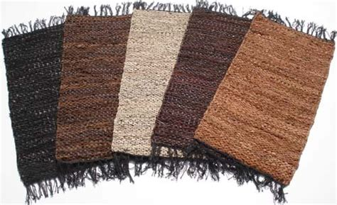 image gallery leather rugs