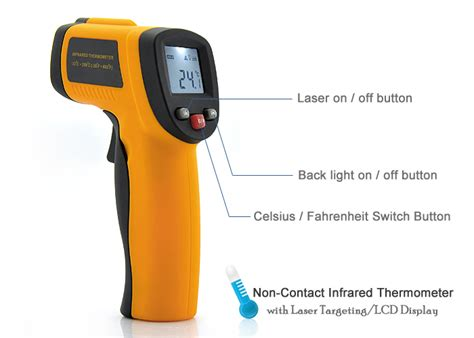 Thermometer Infrared Laser infrared thermometer with laser targeting thm h49 us 10