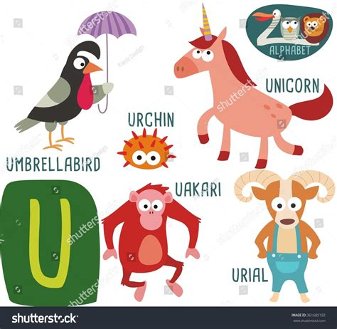 the potty zoo the funniest abc book books zoo alphabet vector u letter stock vector 361685192