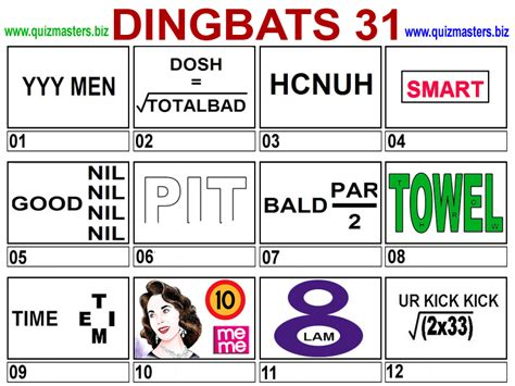 quiz questions dingbats dingbat answers new calendar template site