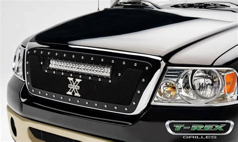 Led Grill Light Bar Ford F 150 Torch Series W 1 20 Quot Led Light Bar Grille Black Pt 6315561