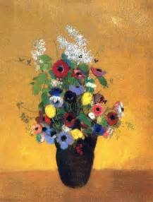 Paintings Of Vases Of Flowers Flowers C 1905 Odilon Redon Wikiart Org