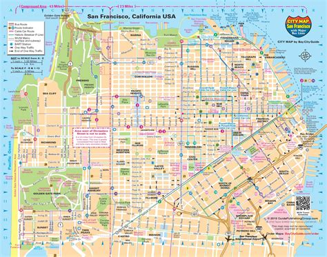 map of san francisco visiter san francisco en 3 jours voyager en photos