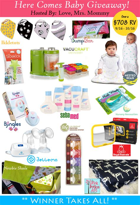 Baby Gear Giveaways - here comes baby giveaway freebies deals steals