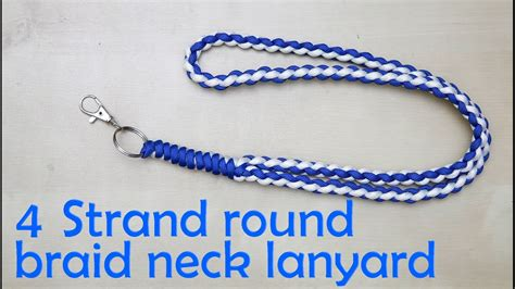 strand  braid neck lanyard youtube