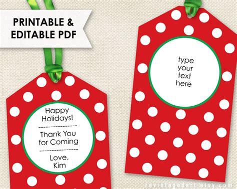 Printable Christmas Tags Editable Holiday Tags Pdf Gift Tag Template Editable