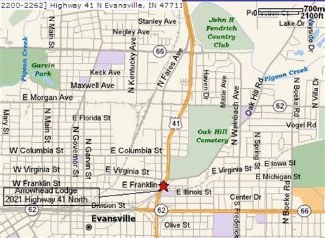map of evansville indiana evansville indiana accomodations motels
