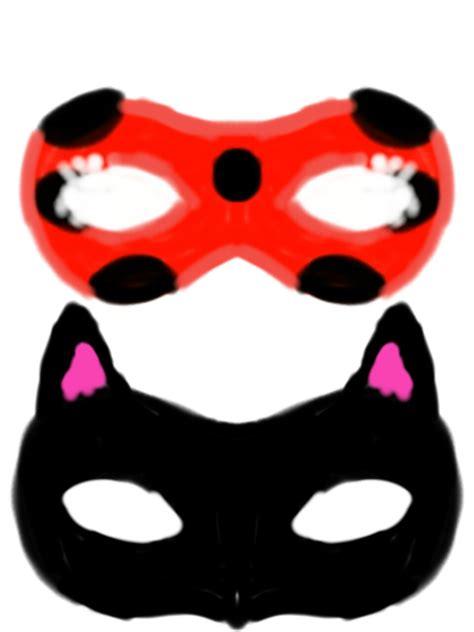 printable ladybug mask miraculous ladybug and catnoir masks by yanalovebug on