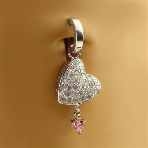 silver belly rings solid 925 silver belly button rings
