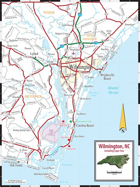 nc map wilmington nc city map free printable maps