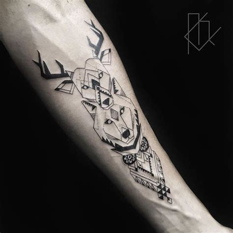 geometric tattoo vorlagen geometric animal tattoo tattoo pinterest tattoo