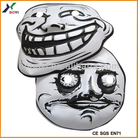 Troll Face Meme Mask - 2015 hot selling trollface carnival party mask pvc meme