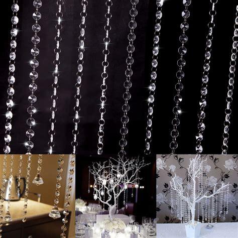 diy crystal curtain garland strand crystal bead curtain wedding diy tree