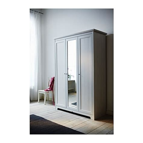 Ikea Mirror Door Wardrobe for sale ikea aspelund 3 door wardrobe with mirror