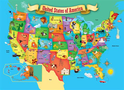 usa map  piece kids puzzle  masterpieces