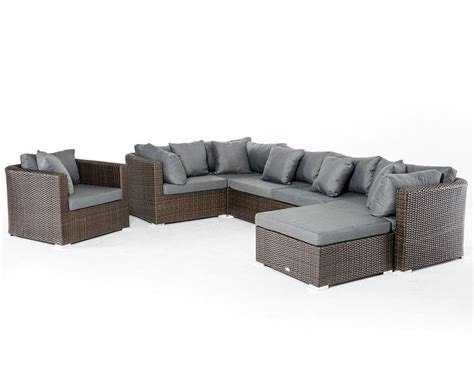 Brown and Grey Outdoor Sectional Sofa Set 44P202 SET