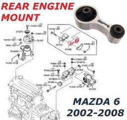for mazda 6 rear engine gearbox mounting bottom centre